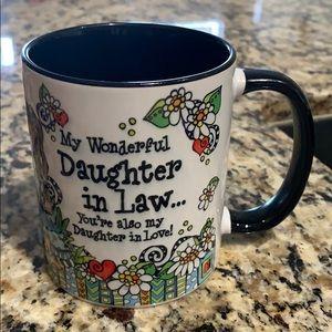 Cool coffee mug. My wonderful daughter in law...